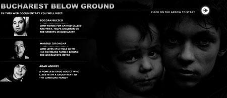 bucharest below ground entry page