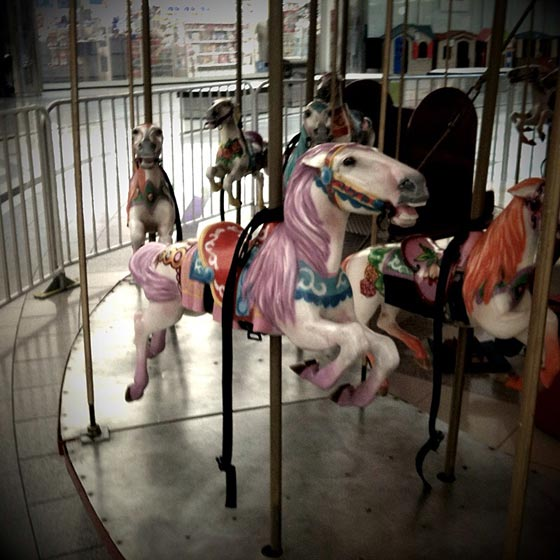 Merry-go-round close-up